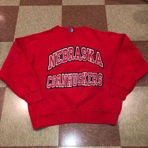 Champion Vtg Nebraska huskers Crewneck Sweatshirt